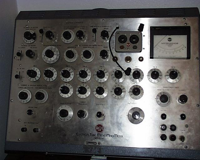 Snd Tube Sales Test Equipment Rca Wt 100a Tube Tester